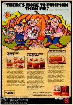 Pumpcream Parfait~Pumpkin Eater Pumpcakes~Chiffon Pump Pie 1972