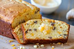 Orange Mango Nut Bread with Ginger Honey Butter #realsummerrealflavor