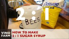 How to Mix 2:1 Sugar Syrup for Feeding Bees - YouTube