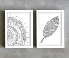 Pen drawing art prints set art prints by PrintsByStellaChili, €22.00