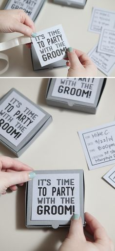 DIY Wedding Tutorials DIY Wedding // How to make these fun and silly Bachelor Party Invites… with FR Bachelor Party Games, Bachelor Party Shirts, Bachelor Party Invitations, Invites, Bachelor Parties, Pre Party, Party Time, Wedding Pins, Diy Wedding