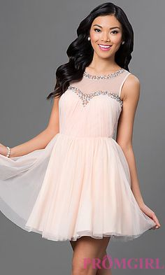 1accf17cfc55 Short Ruched Dress with Beading by As U Wish at PromGirl.com Cheap Short  Prom