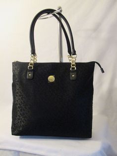 Tommy Hilfiger Black Handbag Purse Authentic Brand New Tags NS Tote 6926621 990 #TommyHilfiger #TotesShoppers