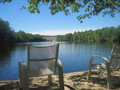 Outdoor Chairs, Outdoor Furniture, Outdoor Decor, Franklin Falls, Cabin Rentals, Cottages, River, Pictures, Home Decor