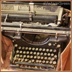 a Vintage Green: Underwood Typewriter