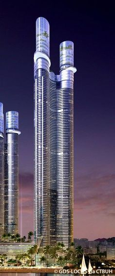 HUD Triple Square Landmark Tower, Busan, South Korea by GDS Architects  87 floors, height 375m #homeimprovementhub,