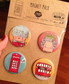 London magnet set Queen Royal Soldier Bus telephone by OipsStore, $10.00 London Souvenirs, Travel Souvenirs, Zoo Signage, Magnet Drawing, Souvenir Store, Artist Alley, Museum Shop, Badge Design, Cute Pins