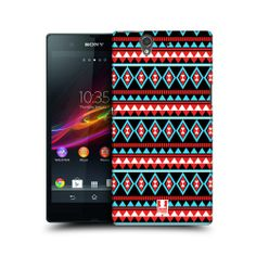 HEAD CASE RED AND BLUE AZTEC PATTERN BACK CASE COVER FOR SONY XPERIA Z C6603