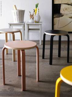 ikea frosta stool painted ༺✿Teresa Restegui http://www.pinterest.com/teretegui/✿༻