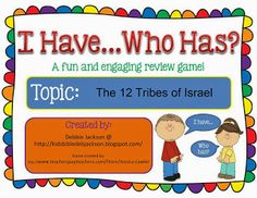 The 12 Tribes of Israel Game @ www.biblefunforkids.com #Biblefun