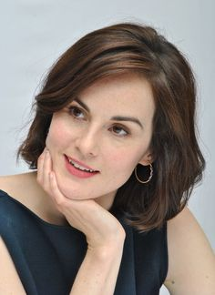 Michelle Dockery hair....great length and frames face nicely