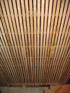Wood Slat Solution For Basement Ceiling Ceilings