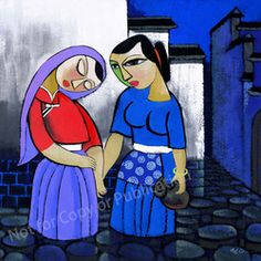 He Qi's The Visitation for living area - S$500 before shipping charge for 55.9cm x 55.9cm (Giclee print S$270)