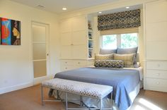 loves this idea of built-ins around the bed and window.