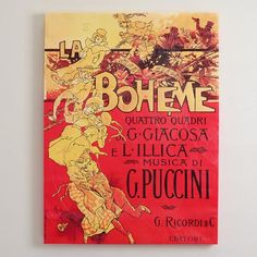 """La Boheme""  by Aldofo Hohenstein   World Market"