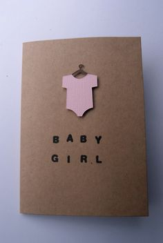 Origami 2d, Baby Girl Cards, Baby Grows, Unique Jewelry, Handmade Gifts, Etsy, Baby Jumpsuit, Kid Craft Gifts, Craft Gifts