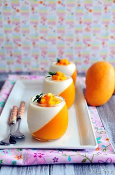 Come learn How to Make Mango Panna Cotta with video tutorial. A quick and easy dessert that is perfect for partiese learn How to Make Mango Panna Cotta with video tutorial. A quick and easy dessert that is perfect for parties. Best Easy Dessert Recipes, Easy Desserts, Delicious Desserts, Potluck Desserts, Easy Recipes, Dinner Recipes, Healthy Recipes, Mango Desserts, Mango Drinks