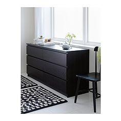 IKEA - MALM, Ladekast met 6 lades, wit, , De lades zijn makkelijk te openen en te sluiten. Met blokkeerstuk.Wil je de binnenkant op orde houden, dan kan je het geheel completeren met de SKUBB bakken set van 6.