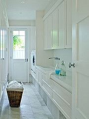 Love this cabinetry! #white #laundry