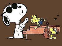 Snoopy & Woodstalk in a Jazz session Peanuts by Charles Shultz http://www.gocomics.com/peanuts#.U799-U1OXhc