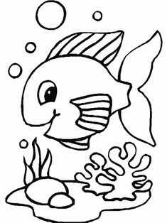 Let Play The Bubbles Game Fish Coloring