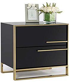 Side Table With Storage, Table Storage, Drawer Storage, Bedside Table Design, Modern Bedside Table, Minimalist Room, Modern Minimalist, Bedroom Bed Design, Wood Bedroom