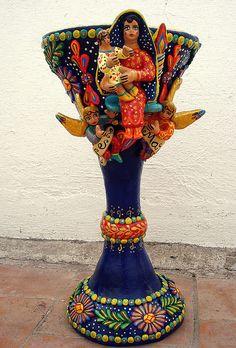 Caliz tradicional de Ocumicho Michoacan...Nueva artesania!!  vista de frente by el_catrinero,