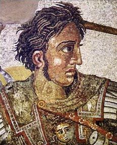 Depicted in this portrait is Alexander the Great. During the play, Hamlet makes an allusion to Alexander the Great stating that when a man dies he looks no different and does the same thing as a man with such a great historical legacy such as Alexander.