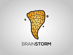 I think this logo is really creative the way the designer made the tornado have the grooves that a brain would.