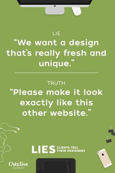 15 Lies Clients Tell Designers 11