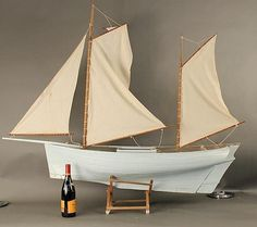 Ballasted working sail model boat