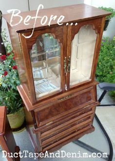 Large Jewelry Cabinet Makeover with Crystal Handles – brenda crawford – Thrift Store Crafts Thrift Store Diy Clothes, Thrift Store Furniture, Thrift Store Crafts, Thrift Stores, Jewelry Cabinet, Jewelry Armoire, Furniture Makeover, Home Furniture, Pallet Furniture