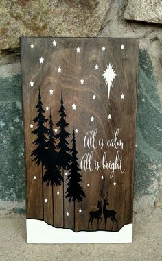 Wooden Christmas Decorations, Christmas Wood Crafts, Christmas Signs Wood, Farmhouse Christmas Decor, Homemade Christmas, Rustic Christmas, Christmas Art, Christmas Projects, Holiday Crafts