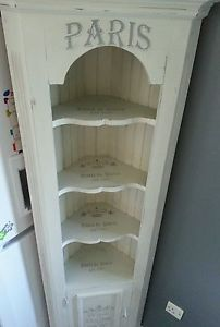 Superieur Shabby Chic Corner Cabinet | ... About Stunning Shabby Chic French Style Corner  Cabinet