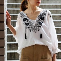 Re Arrival Embroidery Blouse & gaimo ...and more!!