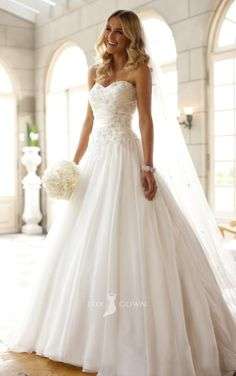 Beautiful flawless white ball gown