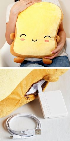 Toast Pillow - warms up using USB