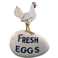 Folk Art Signs | Folk Art Fresh Eggs Advertising Sign