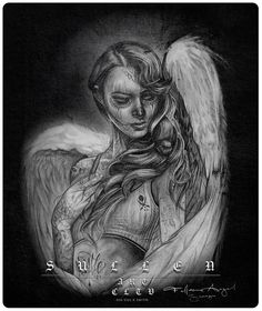 Inked Boutique - Fallen Love Queen Size Blanket By Sullen Tattoo Art Lifestyle Big Gus Day of the Dead Tattooed Angel http://www.inkedboutique.com