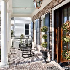 White Washed Brick , love this porch