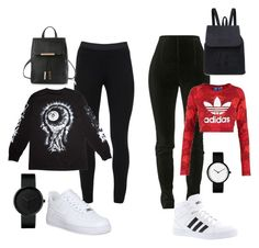 """Untitled #35"" by bananasfoster-1 on Polyvore featuring Balmain, adidas Originals, Peace of Cloth, adidas, Mishka and NIKE"