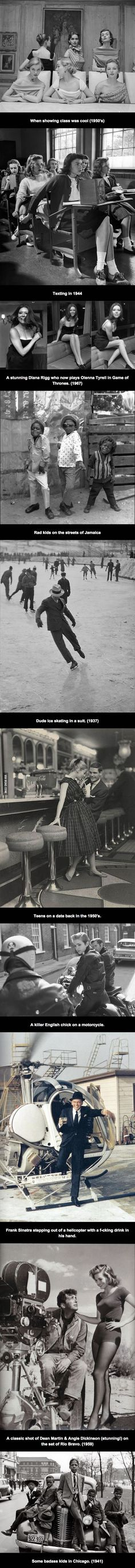 When men had style and women, self respect.