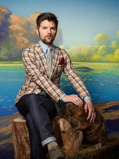 And wow, he really looks great in plaid. | Adam Scott Is The Man You Want And Need