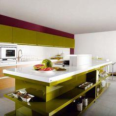 Cocina verde oliva