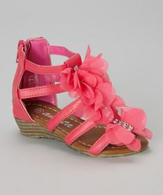 This Fuchsia Gladiator Sandal by Ameta Corporation is perfect! #zulilyfinds