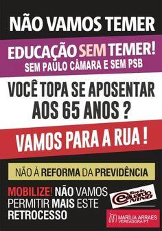 Blog do Eduardo Nino : @Rochinha13: NÃO À REFORMA DA PREVIDÊNCIA  #NãoAPe...