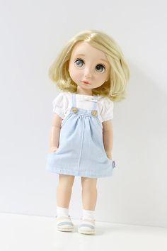 suspenders / Doll clothes for Disney animators collection dolls Disney Baby Dolls, Disney Princess Dolls, Baby Disney, How To Make Clothes, Diy Clothes, Blythe Dolls, Girl Dolls, Ropa American Girl, Disney Animators Collection Dolls