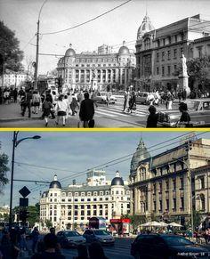 Piața Universității 1989 vs 2018. #bucurestiulmeudrag Bucharest Romania, Old City, Nostalgia, The Past, Louvre, Memories, Building, Places, Travel