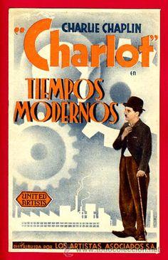 """""""Tiempos modernos"""" de Charlie Chaplin en todocoleccion."""