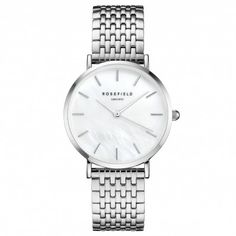 The Rosefield Upper East Side Silver and White Pearl watch. paying tribute to one of the most iconic areas in NY; The Upper East Side! Upper East Side, Silver Pearls, Silver Jewelry, Silver Ring, Gold Jewellery, Silver Earrings, Topshop, Asos, Messing